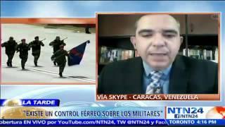 militar retirado habla en ntn24 sobre adoctrinamiento a militares en venezuela