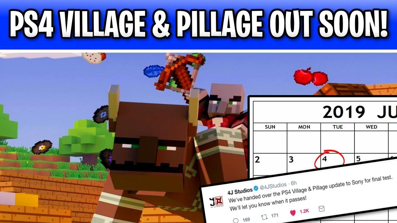 Minecraft PS4 Village & Pillage Update Release Date Soon!!! 1 14 Console  Cert Test