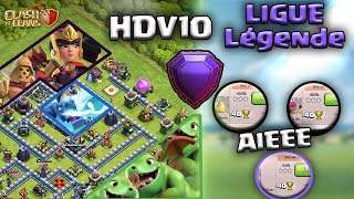 HDV10 EN LIGUE LÉGENDE (-320 ?) ! Clash of clans FR