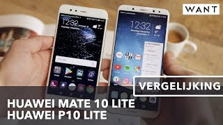 Huawei Mate 10 Lite vs Huawei P10 Lite review (Dutch)