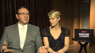 House of Cards - Kevin Spacey, Robin Wright and Michael Kelly interview