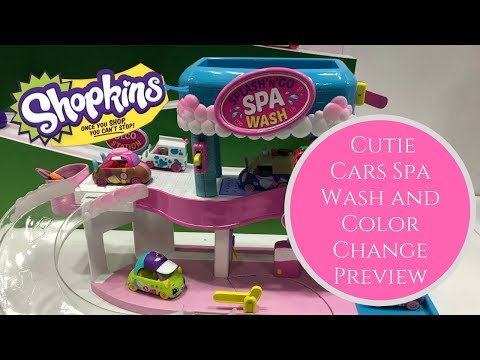 Toy Fair 2018 - Shopkins Cutie Cars Spa Wash and Color Change Preview