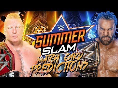 WWE Summerslam 2017 - Match Card...