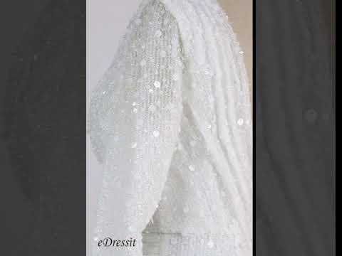 edressit-new-white-v-cut-long-sleeves-short-party-dress-(03200807)