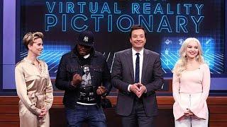 Dove Cameron Plays Virtual Reality Pictionary With Jimmy Fallon