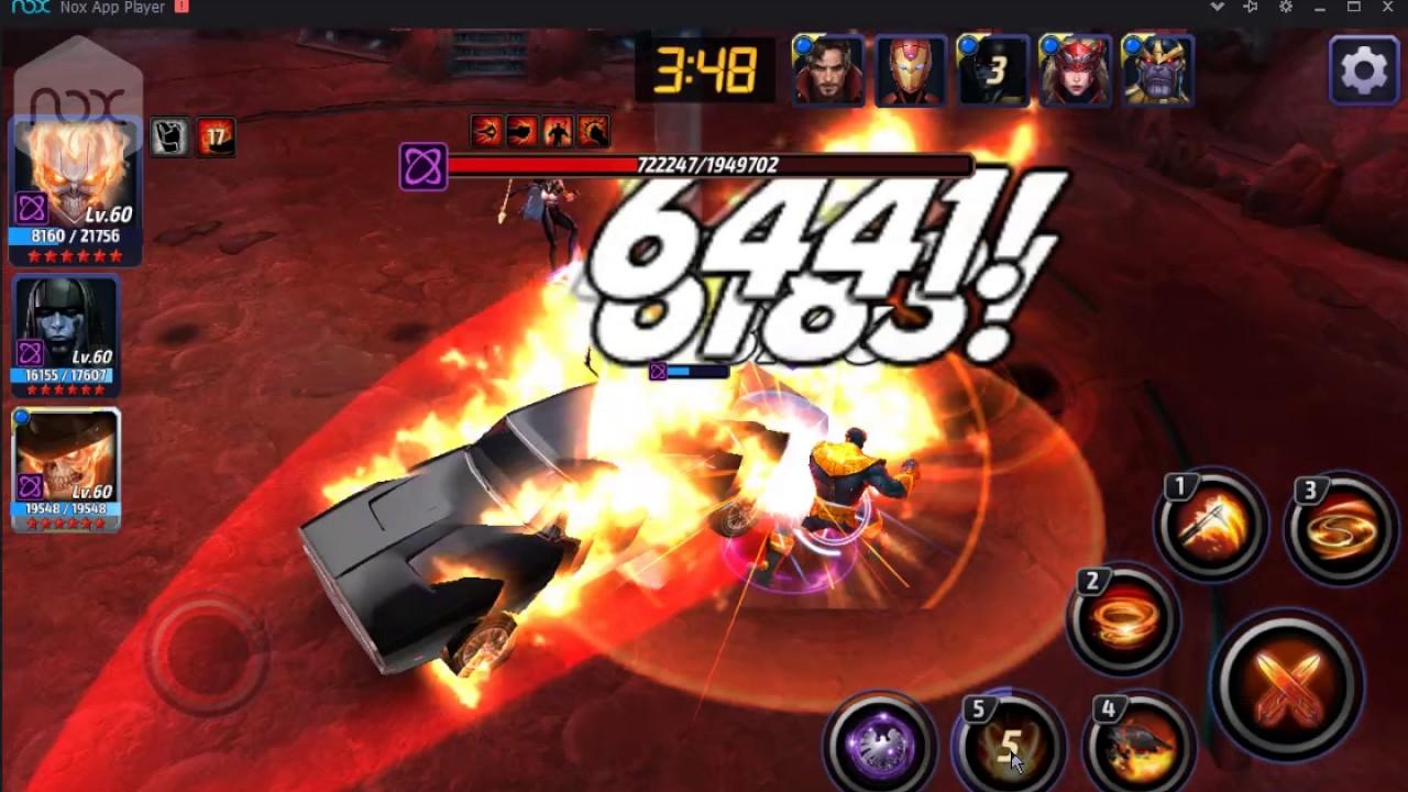 Ghost Rider (Robbie Reyes) T1 vs Thanos (Saturday) - Marvel's Future Fight