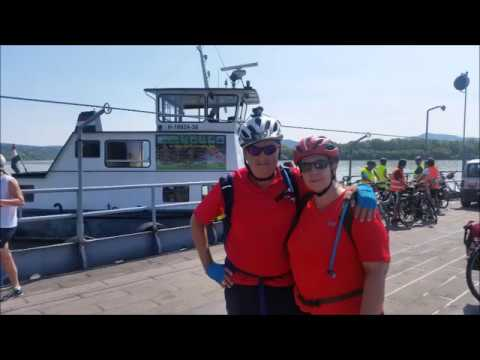 bike and boat in danube