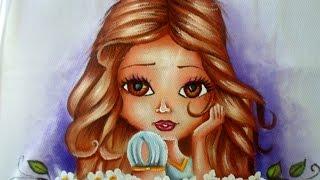 Como pintar boneca do cabelo castanho