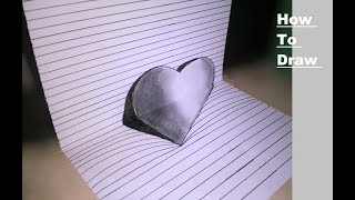 How to draw 3D heart with pencil shade || Art and Craft Lovers