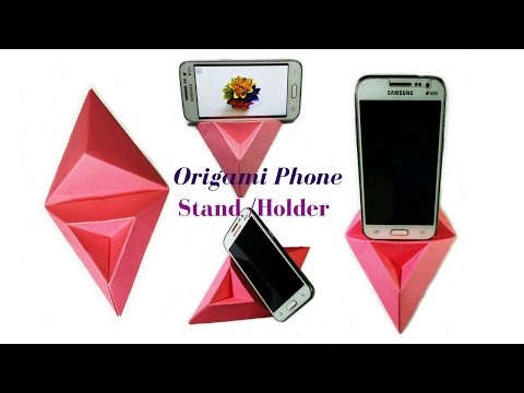 Origami:How to Make a Phone Stand/Holder || Paper Phone Stand || Useful Origami || Craftastic