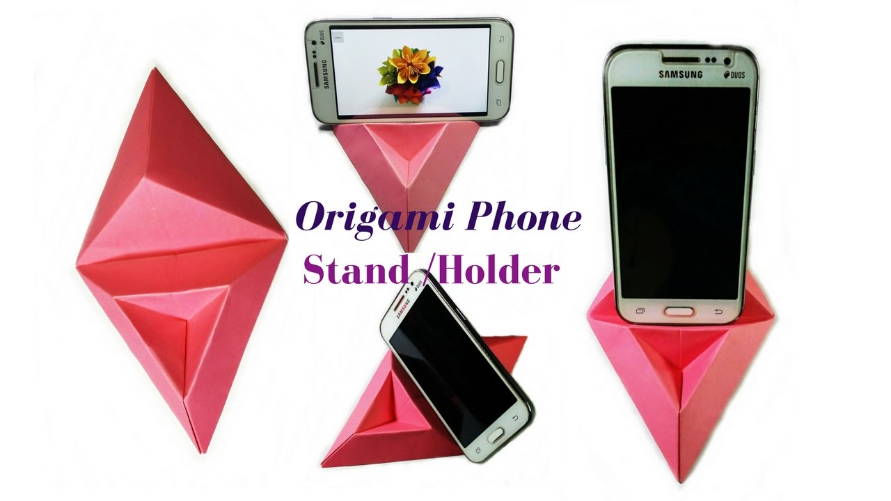 origamihow to make a phone standholder paper phone