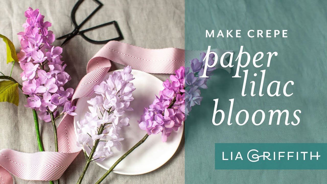 Member Make Live Video: Crepe Paper Lilac Flowers
