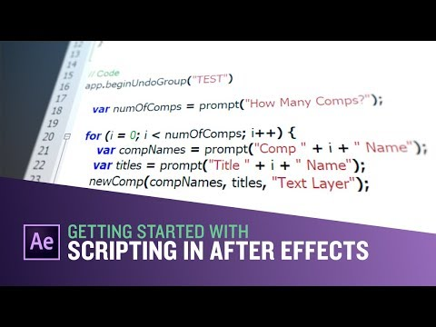 Getting Started With Scripting In After Effects