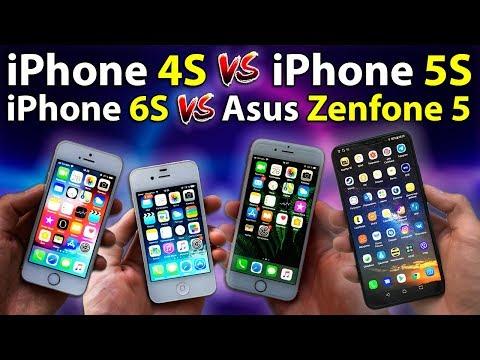 Практическое сравнение iPhone 4S, 5S, 6S и Asus Zenfone 5. Прогресс у айфонов. Андроид или iOS
