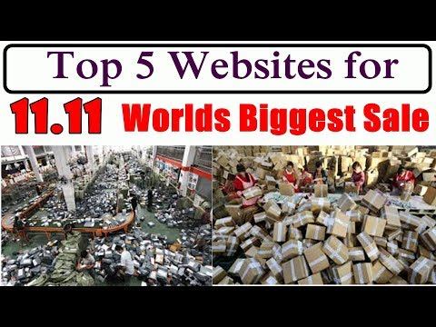 Top 5 Reliable websites for Worlds Biggest Online Shopping Sale 11.11