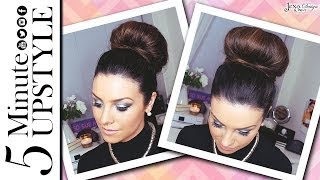 How To: 5 Minute Sleek Hair Bun Tutorial ♥ Thumbnail