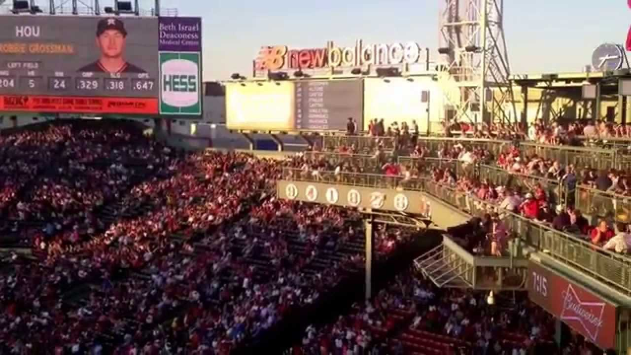 Fenway Park Our Seats Standing Room Only Youtube