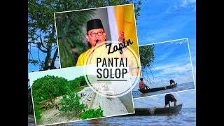 Lagu Melayu : Zapin Pantai Solop - H.M Rusli Zainal (Panorama Pantai Solop by Drone)
