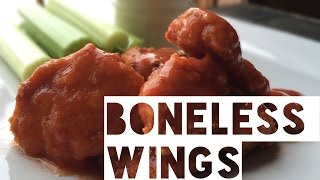 Healthy Boneless Buffalo Chicken Wings Recipe | How To Make Low Fat And Low Carb Boneless Wings