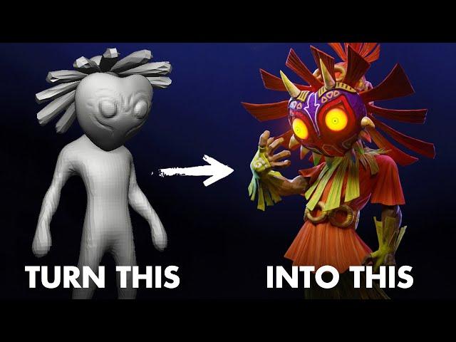 Majora Sculpting Zelda Timelapse in ZBrush