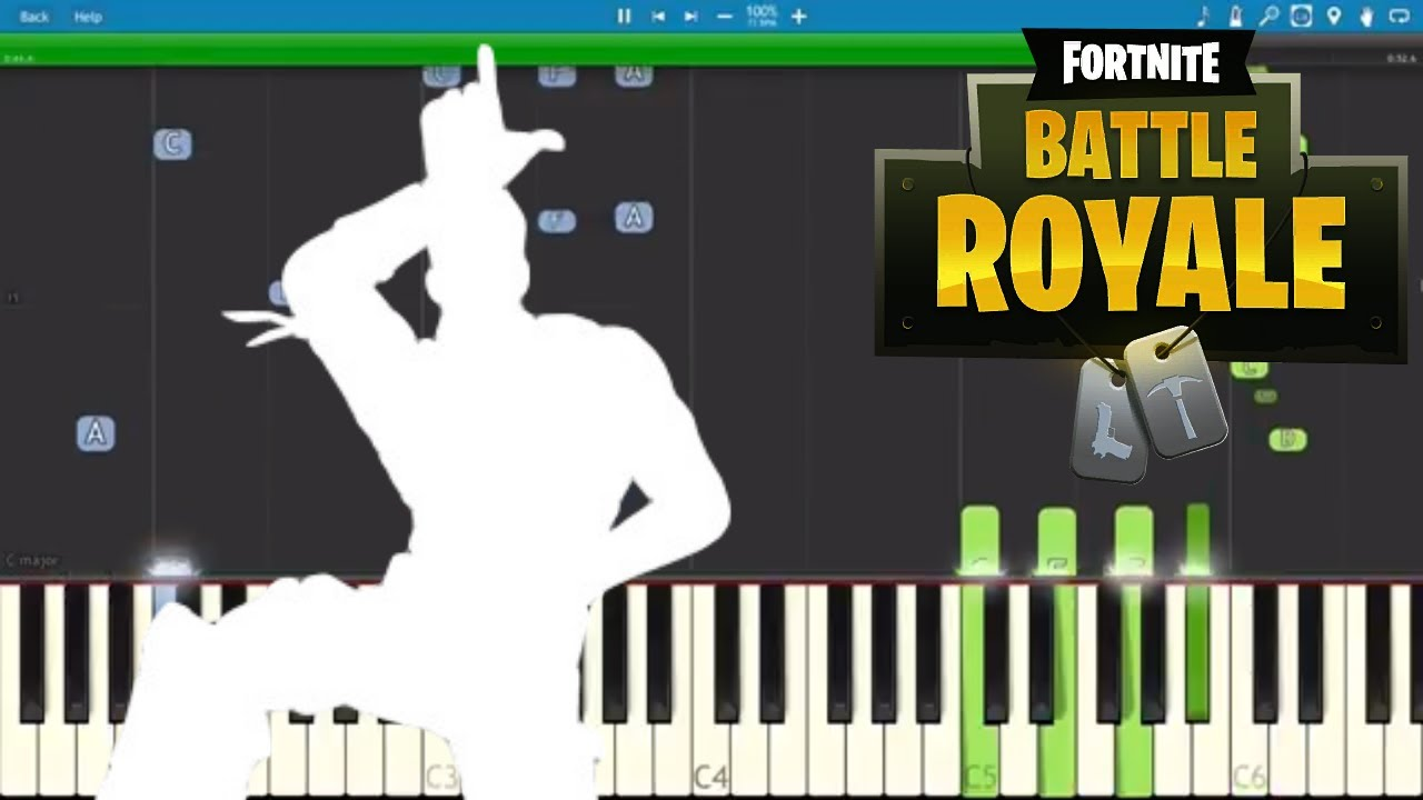 Fortnite Dances Take The L Piano Tutorial How To Play Take The L