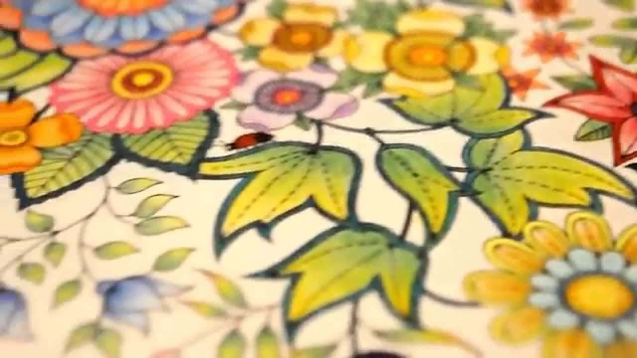 Secret Garden Coloring Book | My leaves and flowers | Jardim Secreto ...
