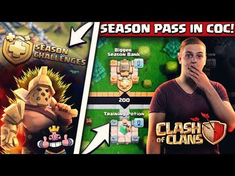 😍🔥GROßES UPDATE In Clash Of Clans!   🤑Alles Kaufen Im Season Gold Pass!