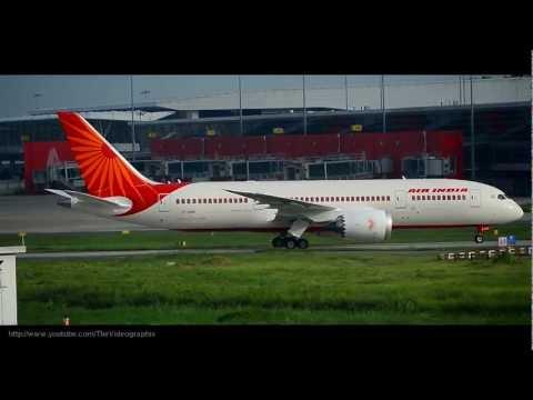 Air India's Boeing 787 Dreamliner landing at Delhi-HD