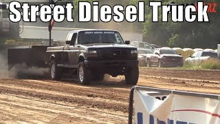 Street Diesel Truck Class At WMP Truck Pulls In Sand Lake Michigan 2018