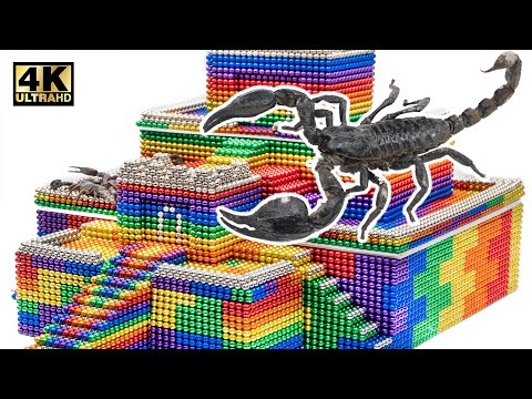 Eel vs Scorpion - Build Ancient Pyramid From Magnetic Balls (Satisfying) | Magnet World Series