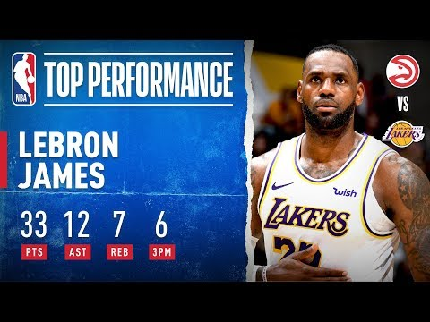 LeBron Shows Out With 33 PTS & 12 AST!