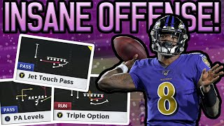 UNSTOPPABLE OFFENSE! BEST RUNS, EASY MONEY PLAYS, JET TOUCH PASS + MORE! | Madden 21 Ravens Offense