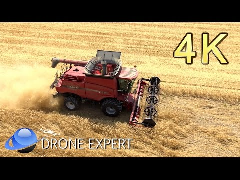 Moisson du blé - Drone 4K - Moissonneuse CASE IH 5088 - Drone Expert