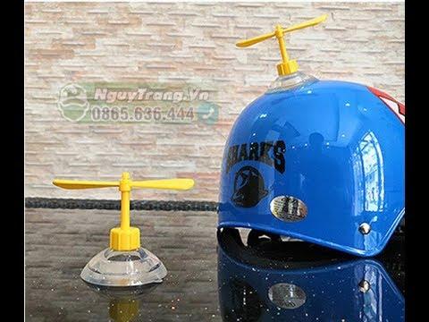 [Review + Hướng dẫn] Mở hộp Chong chóng tre Doremon gắn Mũ bảo hiểm xe máy cute