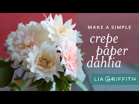 How to Make a Beautiful Paper Dahlia Flower Using Crepe Paper