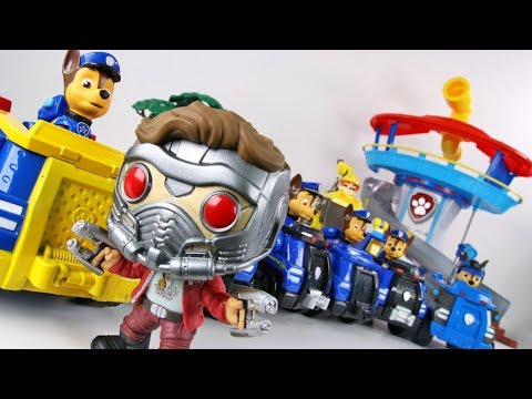 PAW PATROL CHASE FRIENDS' CARS ARE STOLEN BY MARVEL STAR LORD!