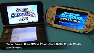 Super Smash Bros. 3DS vs All-Stars Battle Royale PSVita
