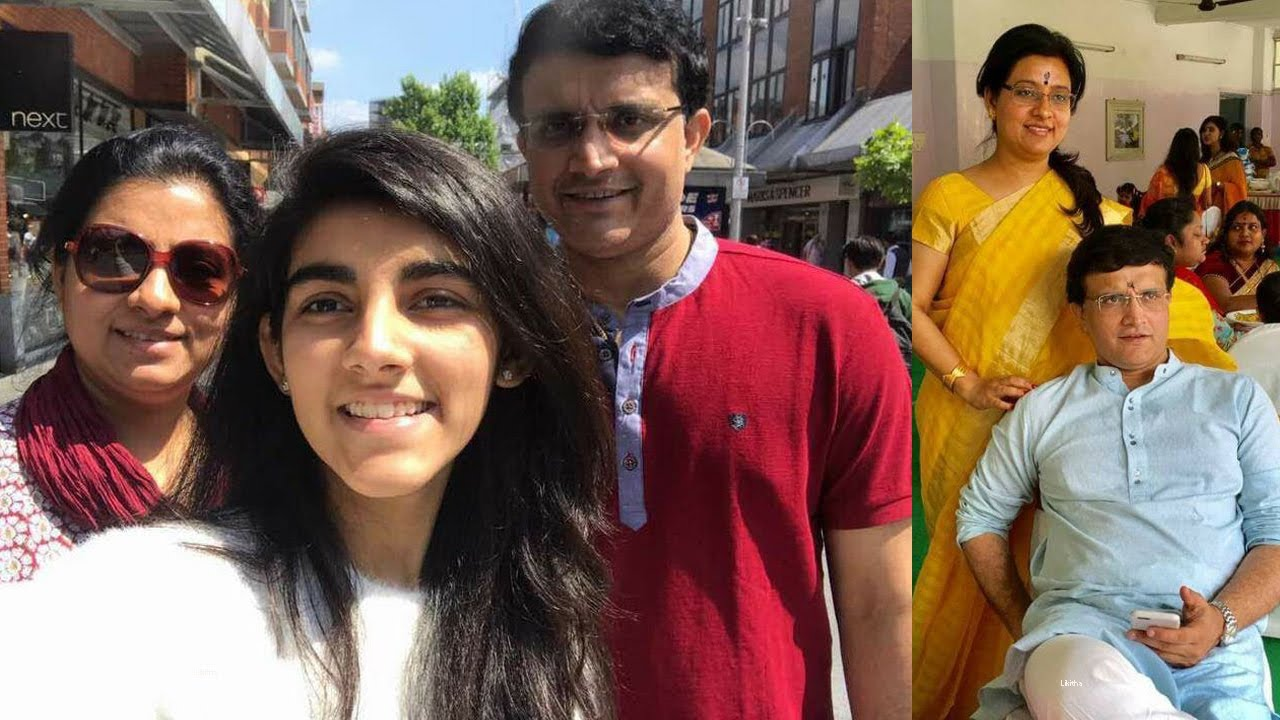 Sourav Ganguly Wife Dona and Daughter Sana | Sourav Ganguly Family ...