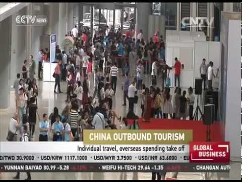 China outbound tourism, overseas spending take off