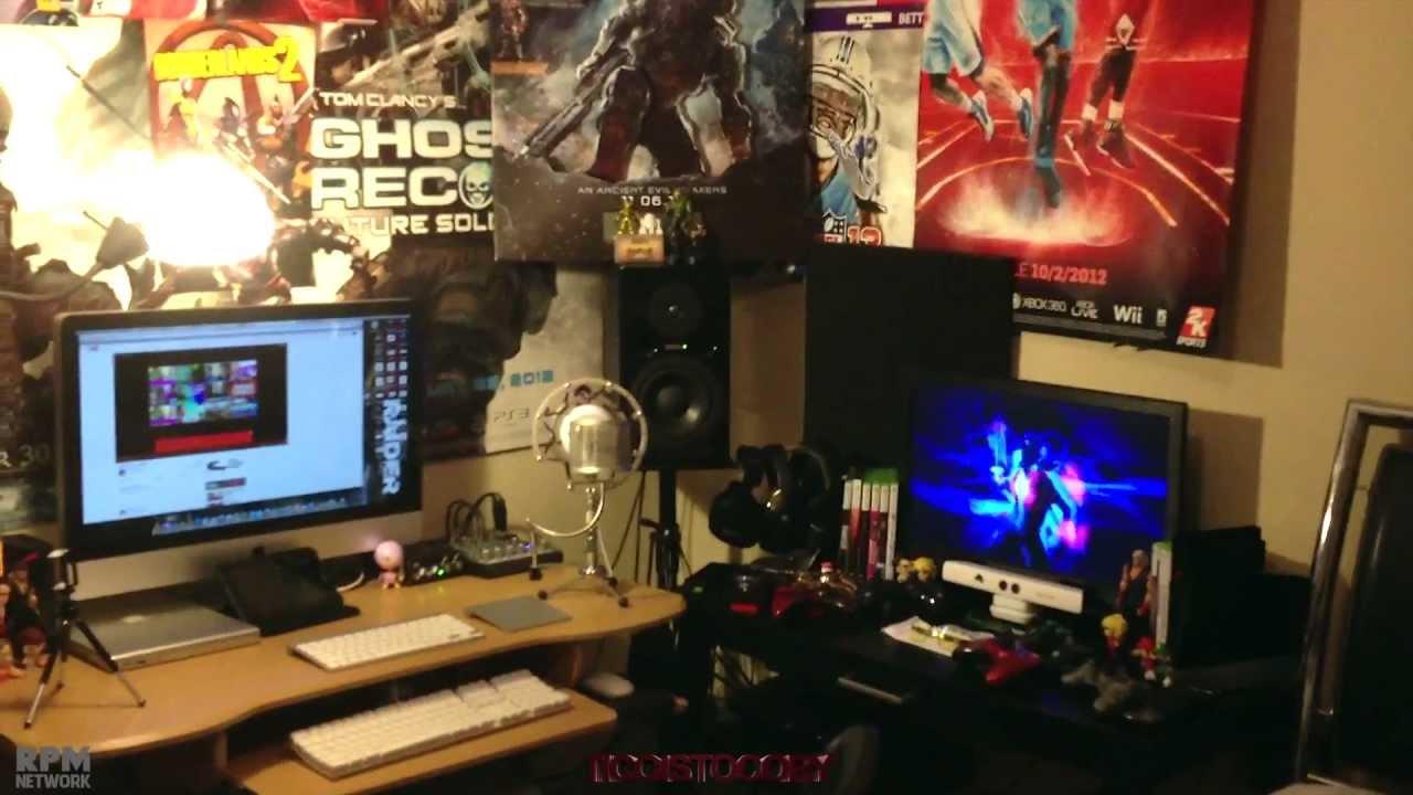 My Gaming  Computer Set Up  2013 Gaming Setup  Desk