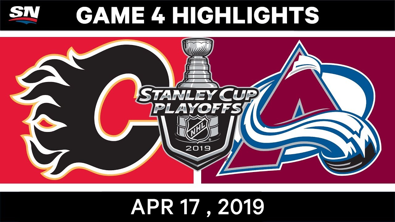 NHL Highlights | Flames vs Avalanche, Game 4 – April 17, 2019