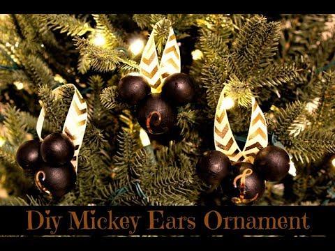 DIY Mickey Ear Ornament