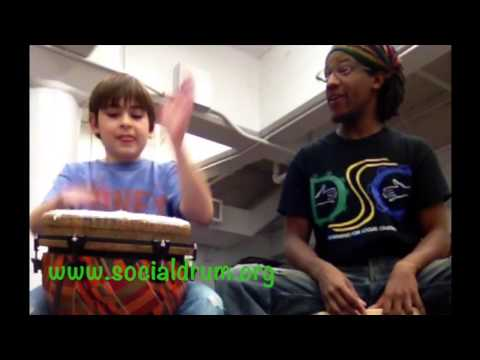 DSC Ewe Drumming Clip, The Philadelphia School 4-19-14