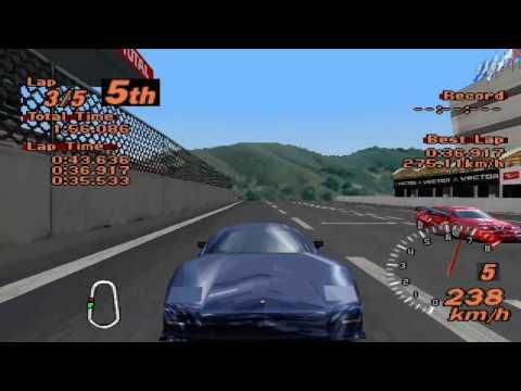 Gran Turismo 2 - Super Speedway - Lister Storm V12 Road Version - ePSXe 1.8.0