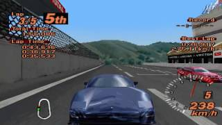 Gran Turismo 2 - Super Speedway - Lister Storm V12 Road Version - ePSXe 1.8.0