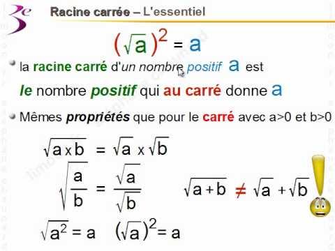 Maths 3ème - Racine carrée - Mathématiques troisième