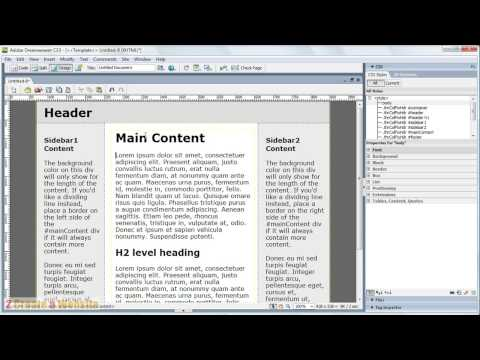 Dreamweaver Tutorial for Beginners (CS3 and Above)