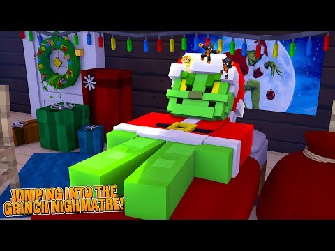 Minecraft JUMPING INTO THE GRINCH'S NIGHTMARE IS SO SO SCARY!!