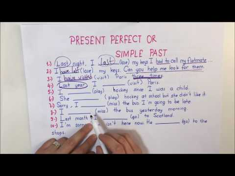 Present Perfect or Simple Past - YouTube