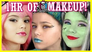 1 hour of MONSTER HIGH DOLL MAKEUP TUTORIALS! | Costume, Halloween, or Cosplay!  |  KITTIESMAMA